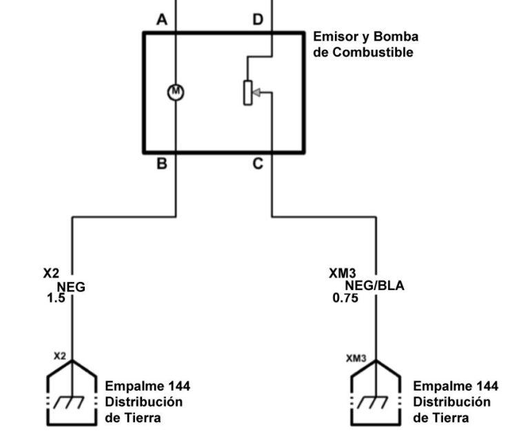 Circuito del sistema de la bomba de la gasolina